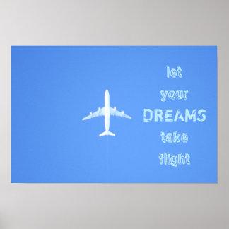 Póster Poster de la cita de los sueños del viaje