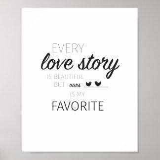 Póster Poster de la cita del amor
