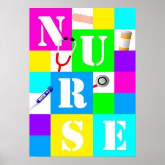 Póster Poster de la enfermera