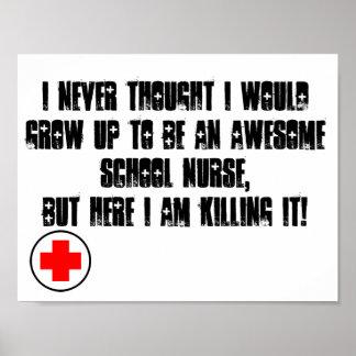 Póster Poster de la enfermera de la escuela