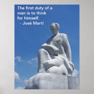 Póster Poster de la estatua de José Martí