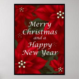 Póster Poster de la Feliz Año Nuevo de las Felices