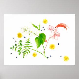 Póster poster de la flor salvaje