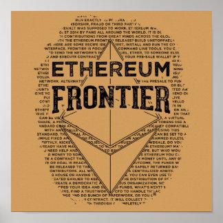 Póster Poster de la frontera de Ethereum (negro del
