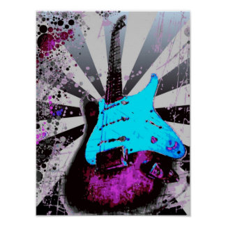 Póster Poster de la guitarra eléctrica