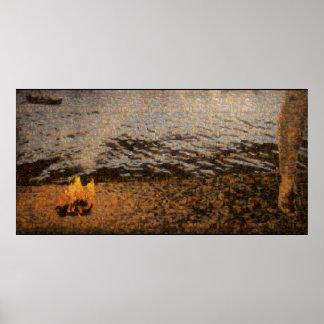 """Póster Poster de la """"línea de la playa"""" (mosaico de todo"""