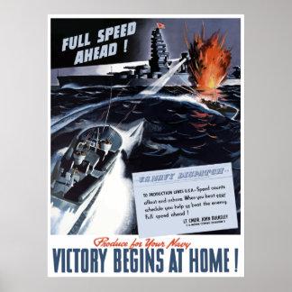 Póster Poster de la marina de guerra WW2