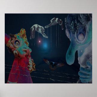 Póster Poster de la marioneta por la rabieta violeta