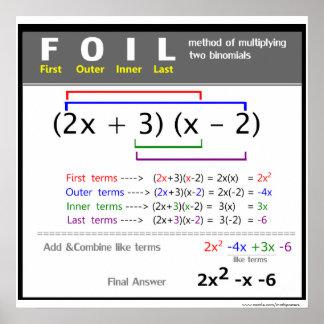 Póster Poster de la matemáticas del método del EFECTO