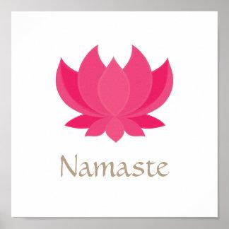 Póster Poster de la meditación de la flor de Lotus