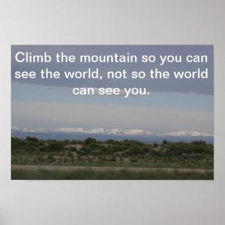 Póster Poster de la montaña rocosa