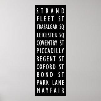 Póster Poster de la muestra de calles del vintage de