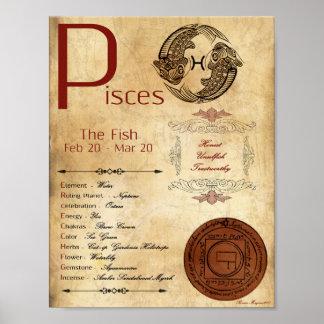 Póster POSTER de la muestra del nacimiento de PISCIS del