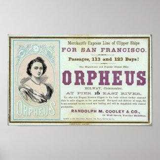 Póster Poster de la nave de podadoras de Orfeo