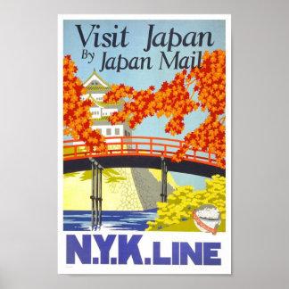 Póster Poster de la obra clásica del viaje de Japón de la