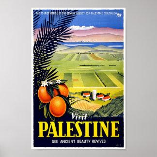 Póster Poster de la obra clásica del viaje de Palestina