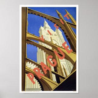 Póster Poster de la obra clásica del viaje de Praga de la