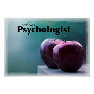 Póster Poster de la oficina del psicólogo de la escuela