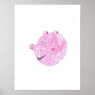 Póster poster de la pared del cerdo