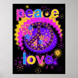 Póster Poster de la paz y del amor