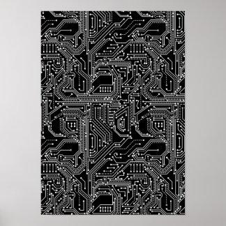 Póster Poster de la placa de circuito del ordenador