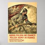 Póster Poster de la propaganda polaca durante WW1