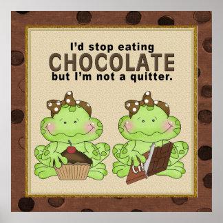 Póster Poster de la rana del chocolate