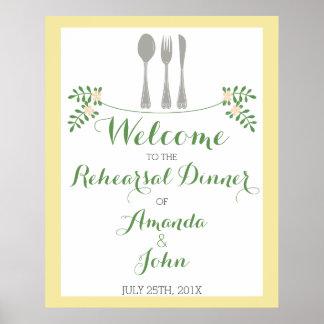 Póster Poster de la recepción de la cena del ensayo de