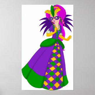 Póster Poster de la reina del carnaval