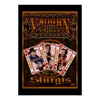 Póster Poster de la reunión de Vaughn de la familia