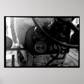 Póster Poster de la rueda del tractor