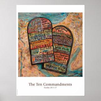Póster Poster de la sala de clase de diez mandamientos