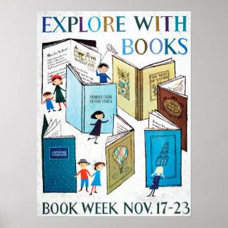 Póster Poster de la semana del libro de 1957 niños