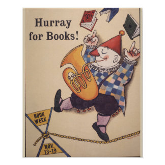 Póster Poster de la semana del libro de 1960 niños