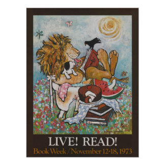 Póster Poster de la semana del libro de 1973 niños