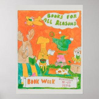 Póster Poster de la semana del libro de 1974 niños