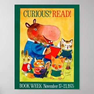 Póster Poster de la semana del libro de 1975 niños