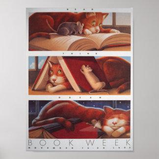 Póster Poster de la semana del libro de 1992 niños