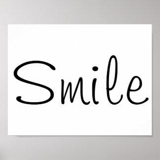 Póster Poster de la sonrisa