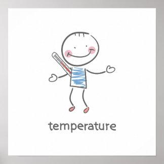 Póster Poster de la temperatura del cuerpo