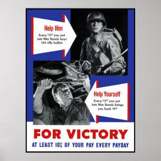 Póster Poster de la victoria WW2 -- Frontera