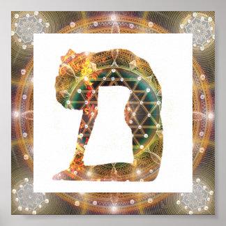 Póster Poster de la yoga de la mandala