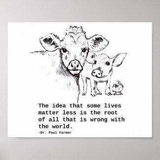 Póster Poster de las derechas de animales