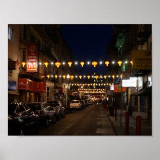 Póster Poster de las linternas de San Francisco Chinatown