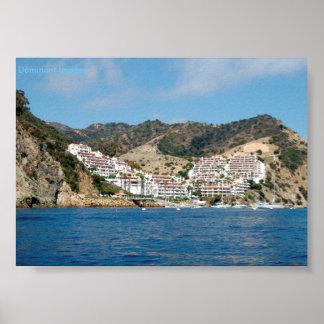 Póster Poster de las montañas de la isla de Catalina