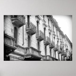 Póster Poster de los balcones de Milano
