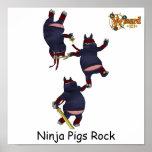 Póster Poster de los cerdos de Wizard101 Ninja