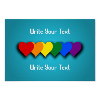 Póster Poster de los corazones del orgullo de LGBT