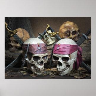 Póster Poster de los cráneos del pirata