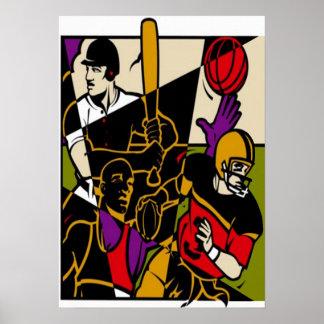 Póster Poster de los deportes